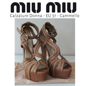 Miu Miu - 7- Calzature Donna - Camello